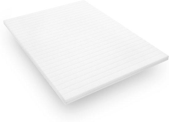 Topdekmatras - 90x200 - koudschuim - premium tijk - 5 cm hoog