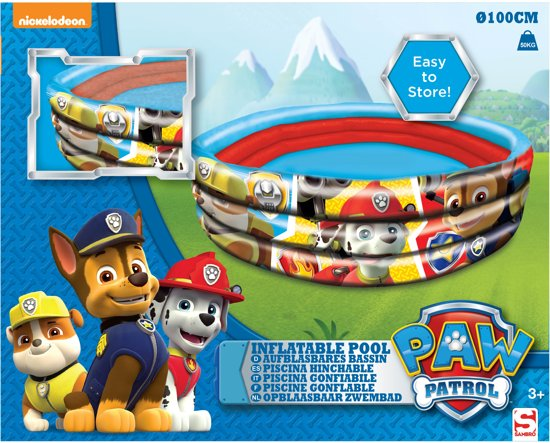 Paw Patrol Zwembad 3 Rings 100X30CM