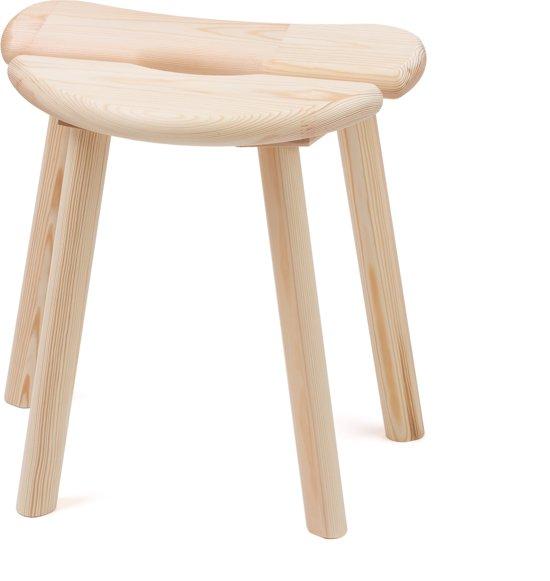 Beste bol.com | Sauna kruk / voetenbankje - dennen hout, gebogen, 41x28 KK-09