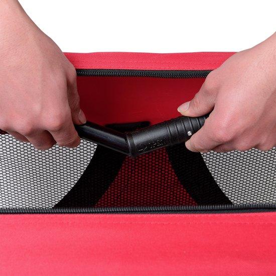 [pro.tec]® Dieren transportbox - reismand - rood - M