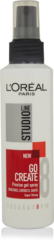 L'Oréal Paris Studio Line Go Create Precise Gel Spray Super Strong - 150 ml - Spray