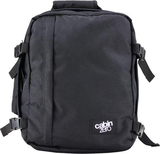 Afmetingen Cabinzero Wizair Rugzak Absolute Mini Black Handbagage Iqwza