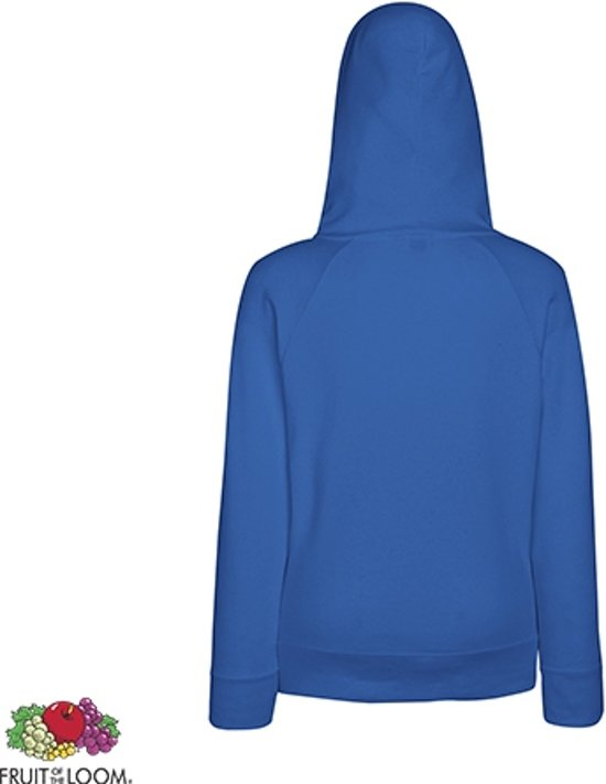 Fruit Of The Loom Lady-fit Hoodie - Lightweight Maat M Kleur Royal wadeWETj