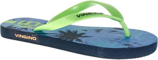 d21daf7cb6f444 Vingino Olaf Slippers Junior Slippers - Maat 32 - Unisex - groen/blauw