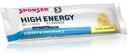 Sponser High Energy Bar - Energiereep - 30 x 45 gram - Banaan