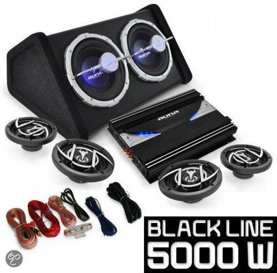 car hifi set black 520 subwoofer luidsprekers. Black Bedroom Furniture Sets. Home Design Ideas
