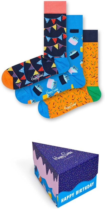 Happy Socks Happy Birthday Giftbox - Maat 41-46