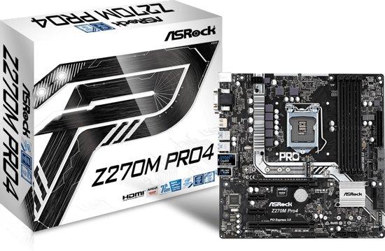 Asrock Z270M Pro4 LGA 1151 (Socket H4) Intel® Z270 Micro ATX