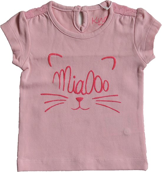 Babykleding Meisje Maat 80.Bol Com Knot So Bad Babykleding Meisjes T Shirt Roze Maat 80