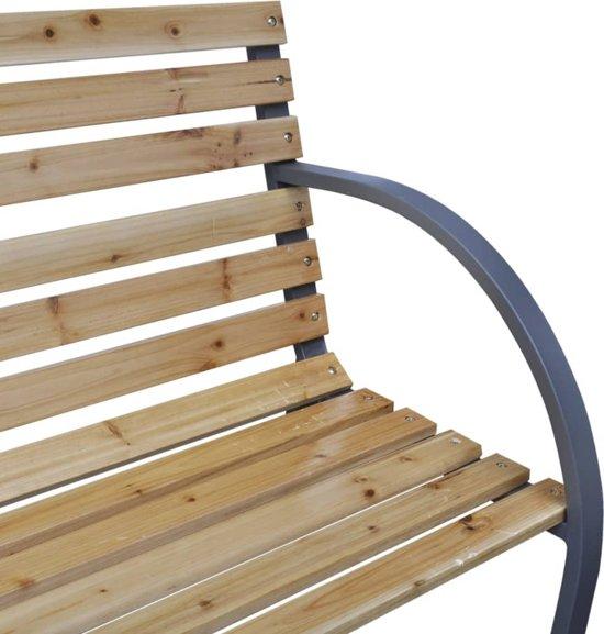 vidaXL Tuinbank 112 cm hout en ijzer