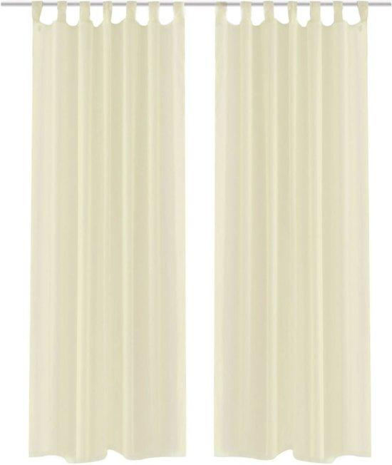 bol.com   vidaXL Gordijn Crème 140x175 cm (2 stuks)