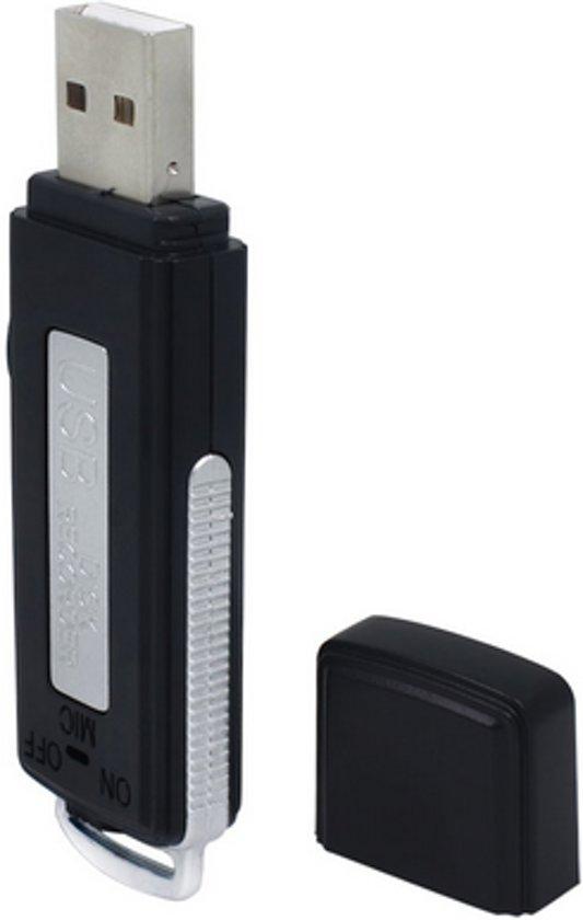 USB stick 8GB met Voice Recorder (18 uur opnemen) Opname apparaat / Zeer compact / HaverCo