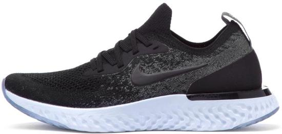 Nike Epic React Flyknit BG Hardloopschoenen Kinderen - Black/Black-Dk Grey-Pure Plati - Maat 37.5