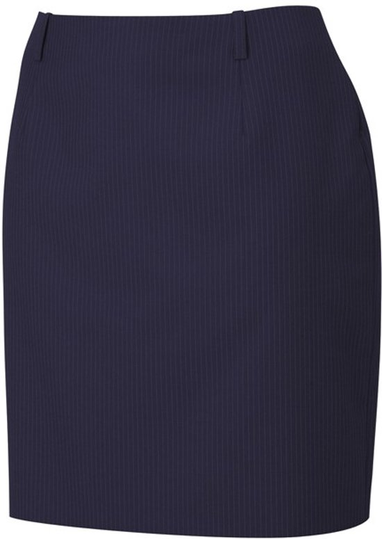 Tricorp Dames rok - Corporate - 505001 - Navy-Gestreept - maat 56