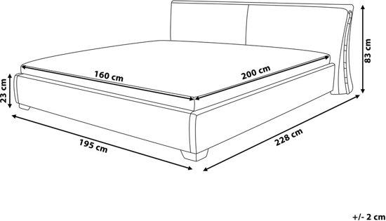 bol beliani paris bed leer goud 160x200 cm