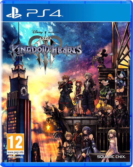 Cover van de game Kingdom Hearts III - PS4