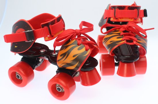 5d2fa521fbc Verstelbare kinder rolschaats - Rolschaatsen voor kinderen - Verstelbaar  28-37 Rood