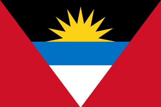 Vlag Antigua en Barbuda 90x150cm