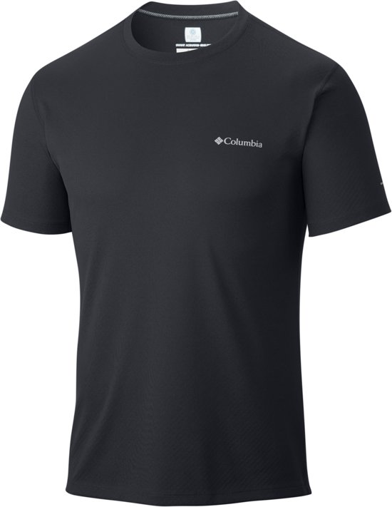 Columbia Zero Rules Short Sleeve Shirt Heren - Black