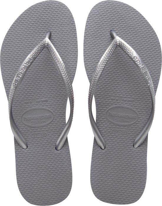 Havaianas Slim Steel Gray 4000030 5178 - slippers-sandalen - Vrouwen - grijs -  maat  35-36