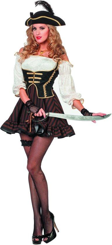 Piraten jurk bruin voor dame