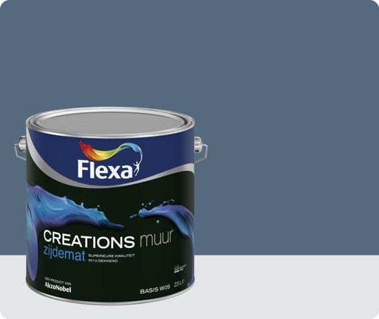 Flexa Blueberry Dream.Flexa Creations Muurverf Zijdemat 3032 Blueberry Dream 1 Liter