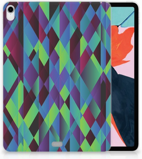 Apple iPad Pro 11 inch (2018) Tablethoesje Design Abstract Green Blue