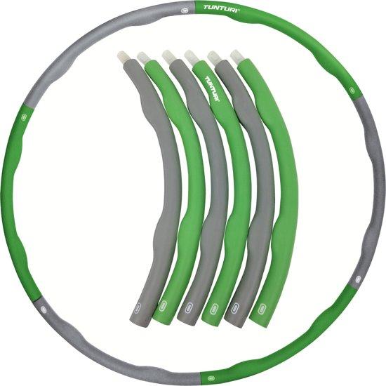 Tunturi Fitness Hoelahoep - Fitness hoepel - Fitness hulahoop - 1.2 kg - Groen/Grijs