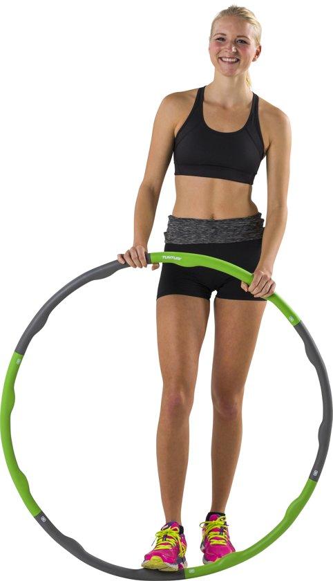 bol com tunturi fitness hoelahoep fitness hoepel fitnessbol com tunturi fitness hoelahoep fitness hoepel fitness hulahoop 1 2 kg groen grijs