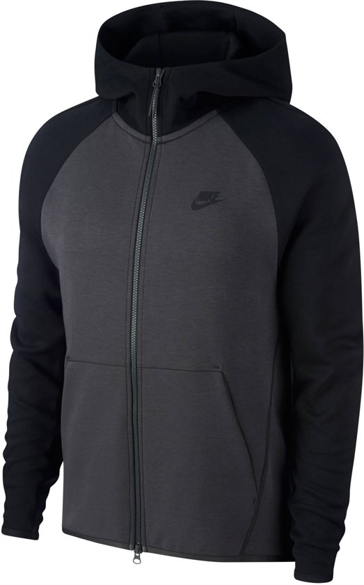 424819559e0 Nike MSW Tech Fleece Hoodie Fz Vest Heren - Anthracite/Black/(Black)