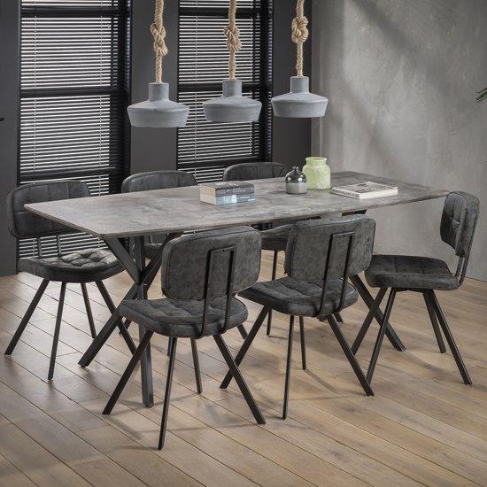 Meer Design Eettafel Mundil Grijs 190cm