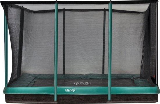 Etan Inground Premium Gold Combi Trampoline set 281 x 201 cm - inc. Veiligheidsnet - Grijs - Rechthoekig