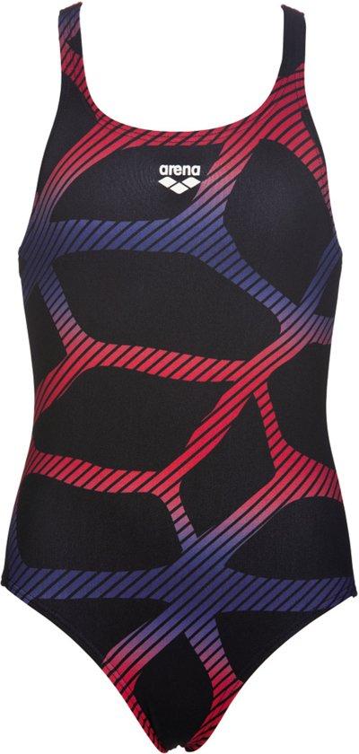 44c59b4cf22 bol.com | Arena G Spider Badpak - Maat 140 - Meisjes - zwart/rood/blauw