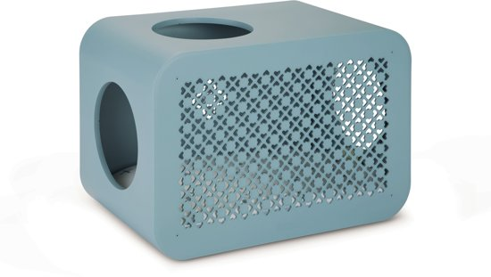 Beeztees Cat Cube Sleep Kattenmand - 49 x 29 x 32,6 cm - Steenblauw