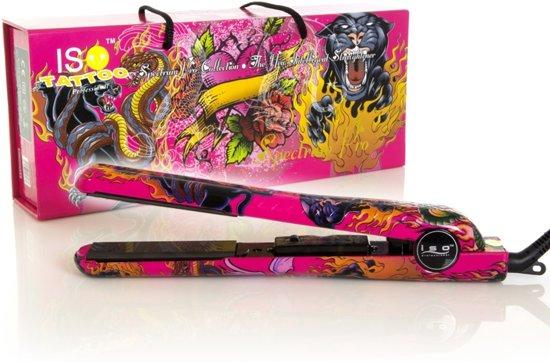 ISO Professional Spectrum Pro Stijltang - Hot Pink Tattoo