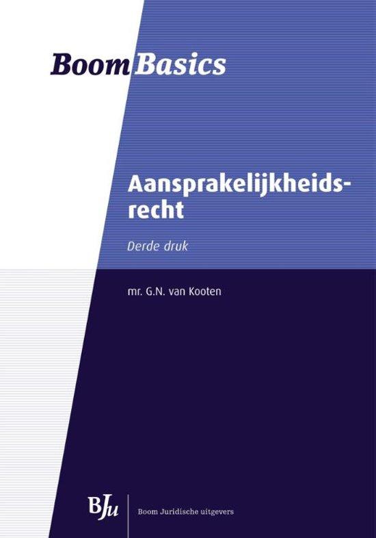 Aansprakelijkheidsrecht - G.N. van Kooten