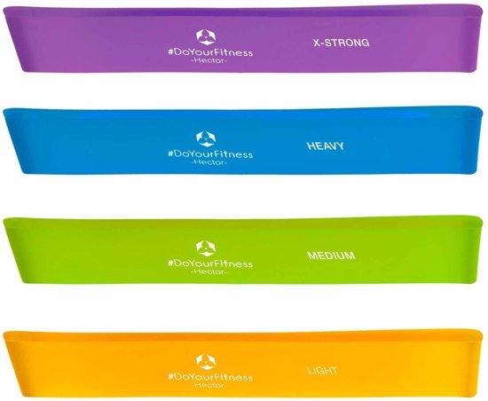 #DoYourFitness Weerstandsband Hector - Omvang 60cm en breedte ca. 5 cm - Mix Set (alle kleuren)