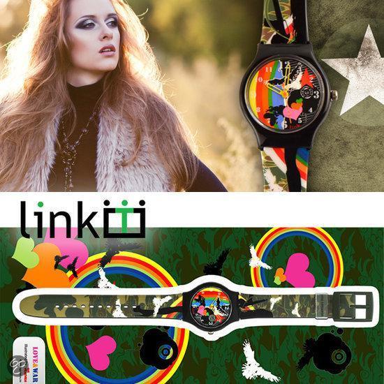 Linkgrahix horloge Love&war - diameter 34 mm