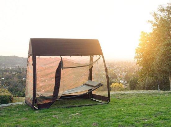 SORARA Hangmat / Ligbed met Klamboe – Grijs – 2 personen