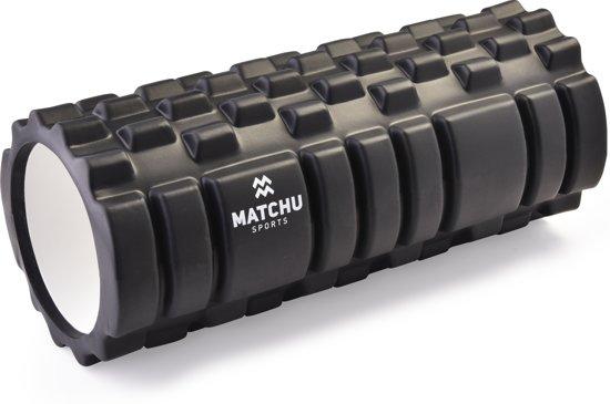 Matchu Sports - Foam roller - Zwart - GRATIS verzending