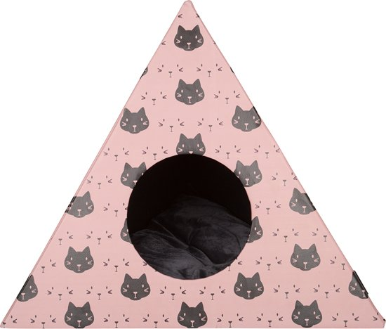 District 70 TRIANGLE Kattenhuis - Roze - 60 x 60 x 53 cm