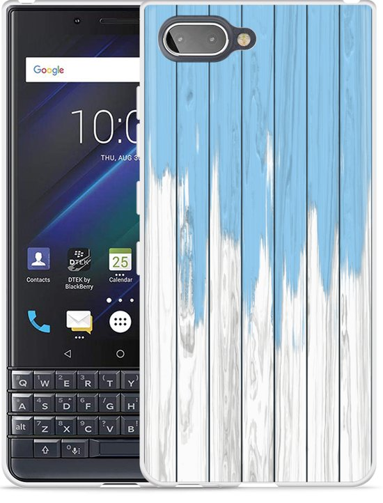 Blackberry KEY2 LE Hoesje Dripping blue paint