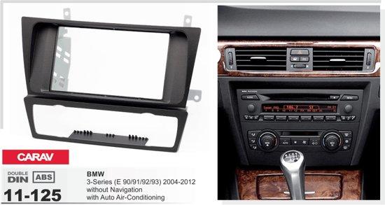 inbouw radio frame bmw e90 e91 e92 zonder airco. Black Bedroom Furniture Sets. Home Design Ideas