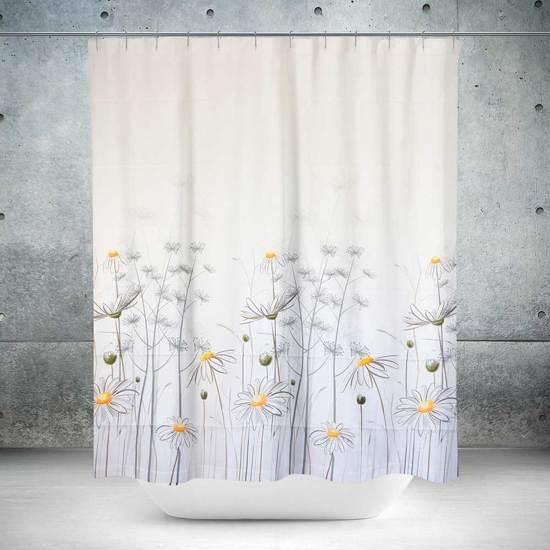 Roomture - douchegordijn - Flowers - 120 x 200