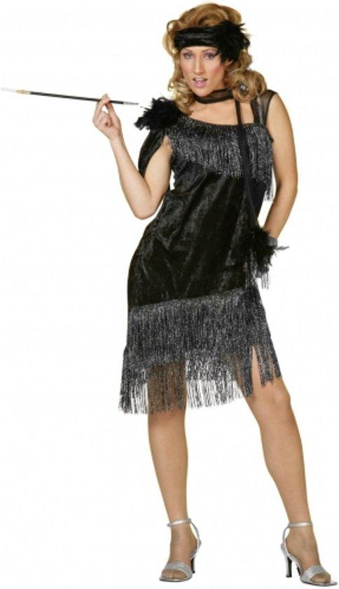 Jaren 20 glamour jurk zwart 42 (xl)