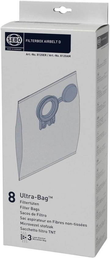 Sebo D Serie stofzuigerzakken 8x 8120ER