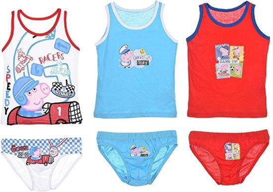 Peppa Pig ondergoedset 3-pack jongens maat 116/122 (6-8 jr)
