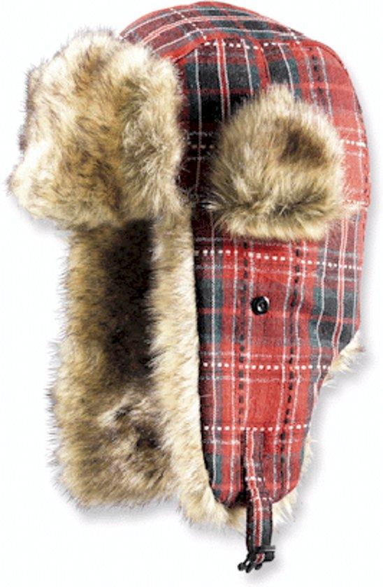 Gelert Women s Newton Trapper Hat - Dark Red Tartan - Dames Muts 016257472641