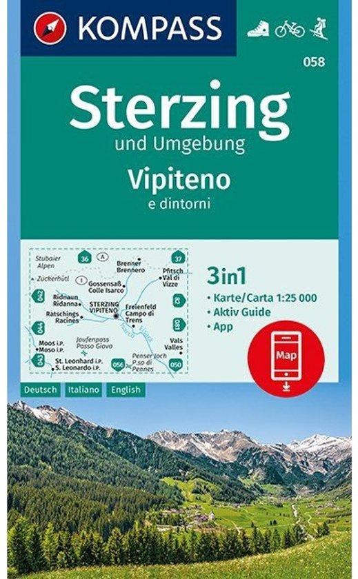 Kompass WK058 Sterzing und Umgebung, Vipiteno
