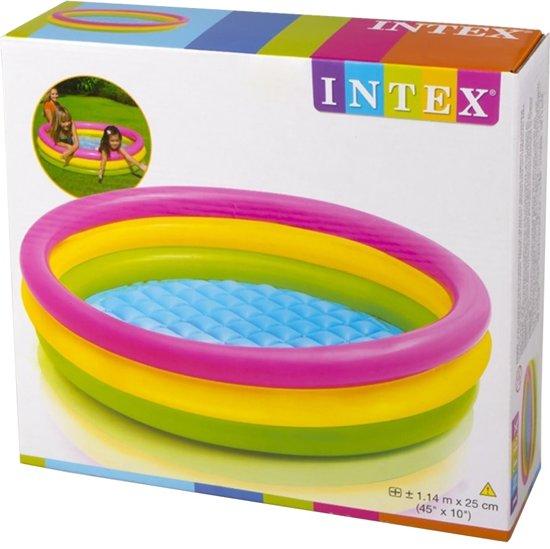 Intex Opblaasbaar Zwembad Sunset Glow - 114 cm
